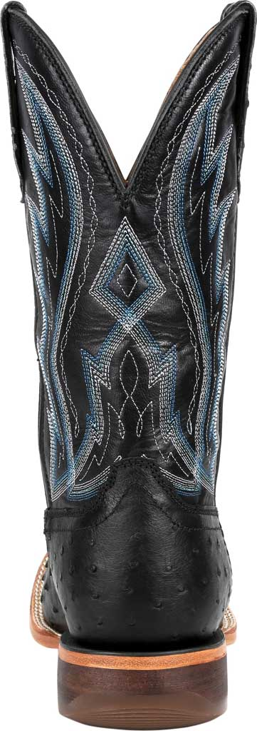 Men's Durango Boot DDB0275 Exotic Full-Quill Ostrich Western Boot, Midnight Ostrich/Full Grain Leather, large, image 4