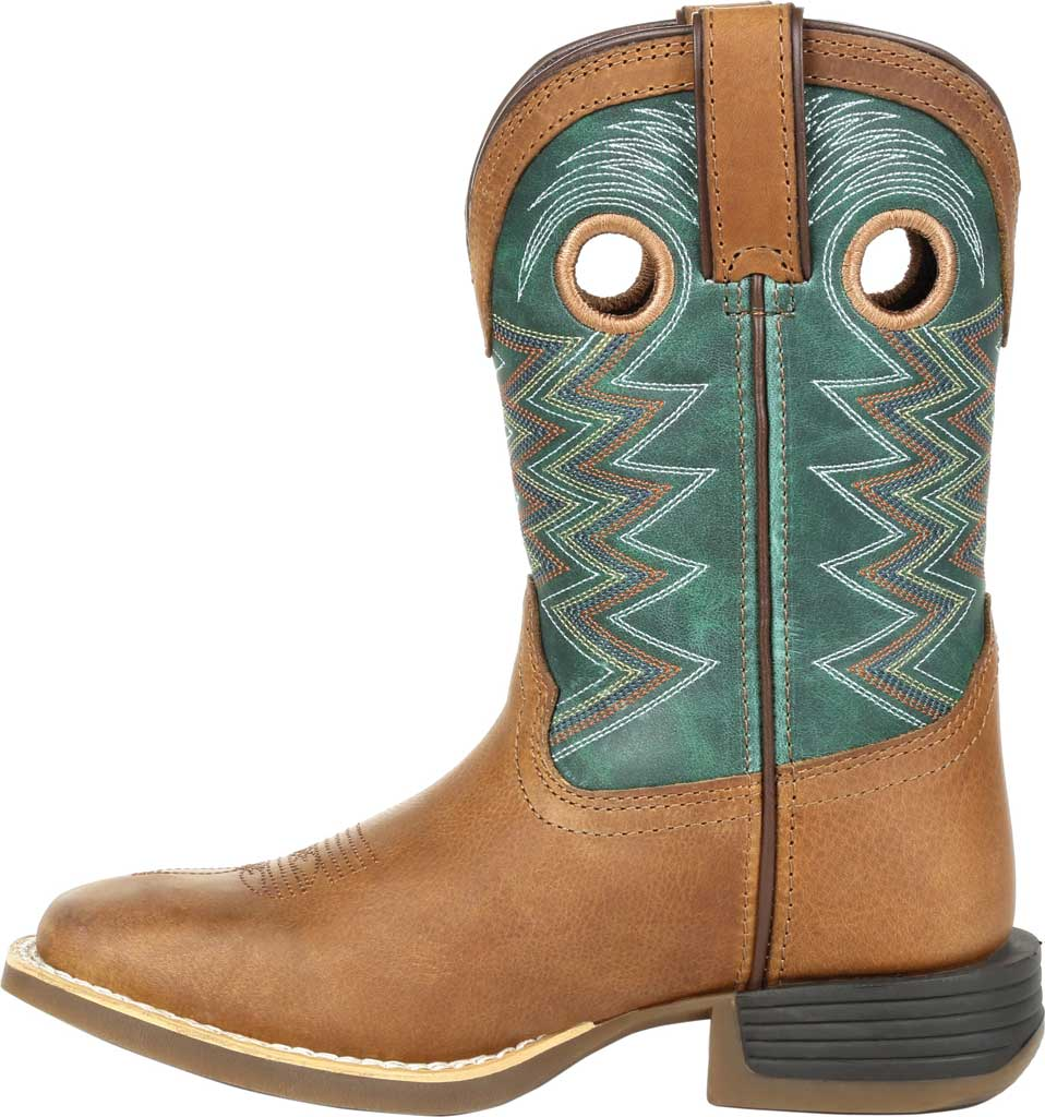 Children's Durango Boot DBT0224Y Lil' Rebel Pro Big Kid Western Boot, Wheat/Tidal Teal Full Grain Leather/Faux, large, image 3