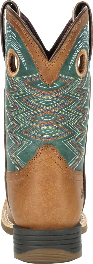 Children's Durango Boot DBT0224Y Lil' Rebel Pro Big Kid Western Boot, Wheat/Tidal Teal Full Grain Leather/Faux, large, image 4