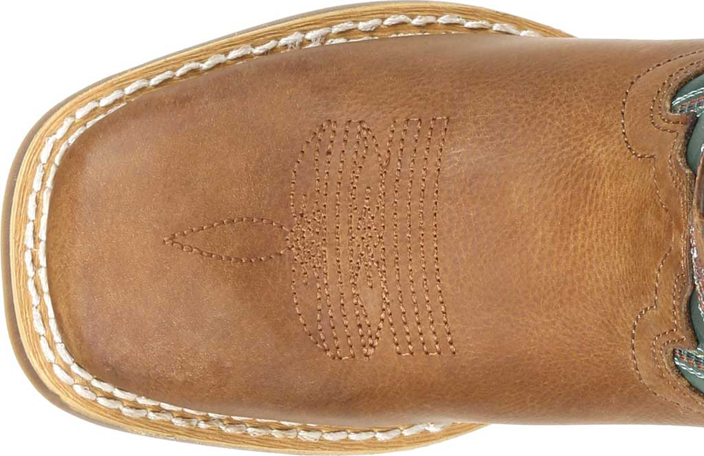 Children's Durango Boot DBT0224Y Lil' Rebel Pro Big Kid Western Boot, Wheat/Tidal Teal Full Grain Leather/Faux, large, image 5