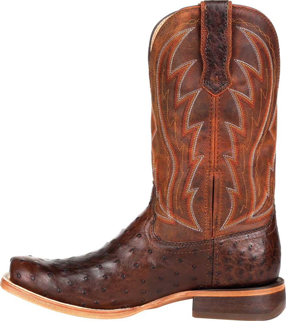 Men's Durango Boot DDB0276 Exotic Full-Quill Ostrich Western Boot, Antiqued Chestnut Ostrich/Full Grain Leather, large, image 3