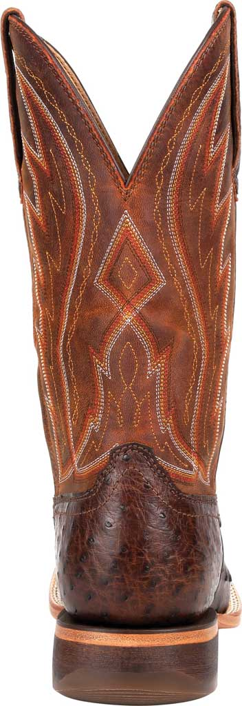 Men's Durango Boot DDB0276 Exotic Full-Quill Ostrich Western Boot, Antiqued Chestnut Ostrich/Full Grain Leather, large, image 4