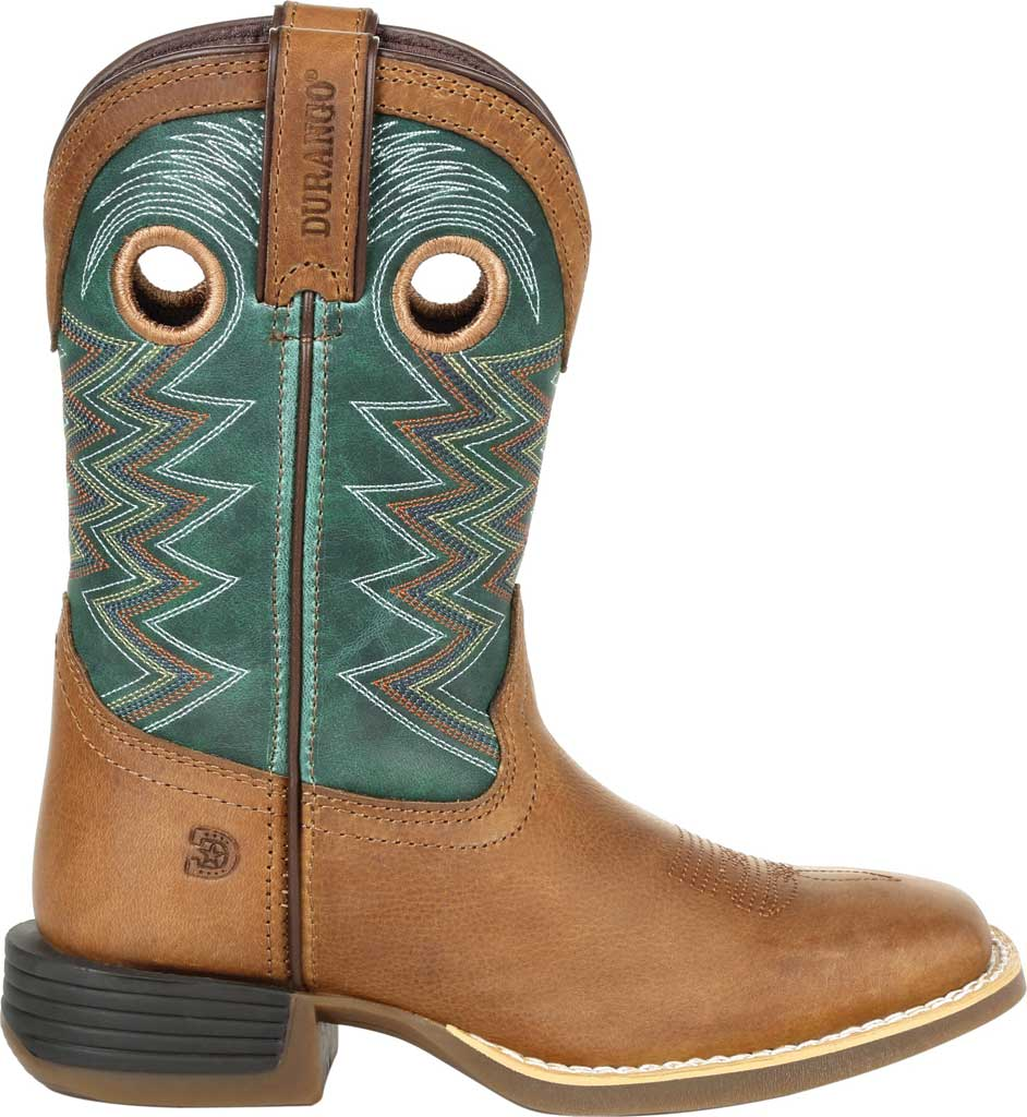 Children's Durango Boot DBT0224C Lil' Rebel Pro Little Kid Western Boot, Wheat/Tidal Teal Full Grain Leather/Faux, large, image 2
