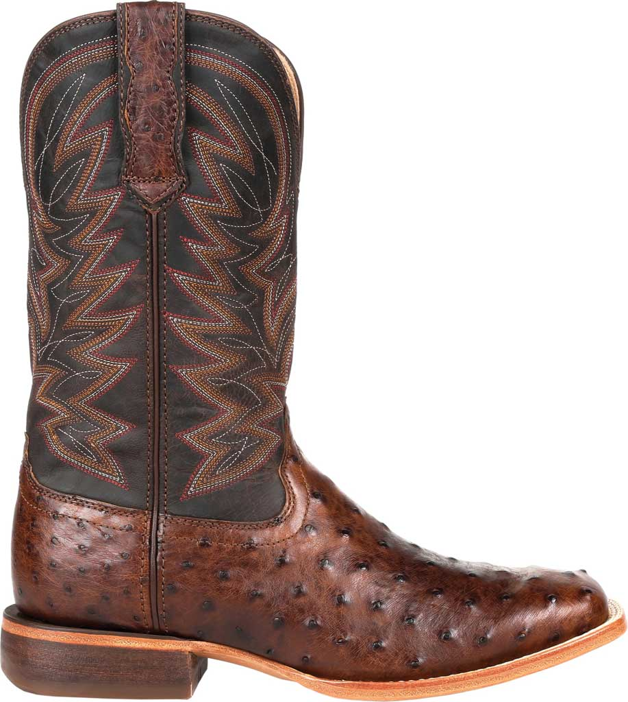 Men's Durango Boot DDB0274 Exotic Full-Quill Western Boot, Antiqued Saddle Ostrich/Full Grain Leather, large, image 2