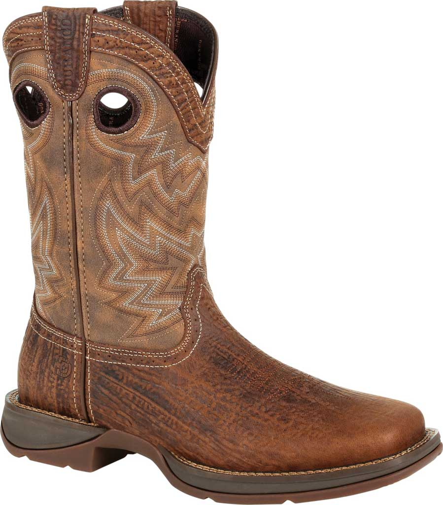 Men's Durango Boot DDB0271 Rebel Western Boot, Trail Brown Full Grain Leather/Faux, large, image 1