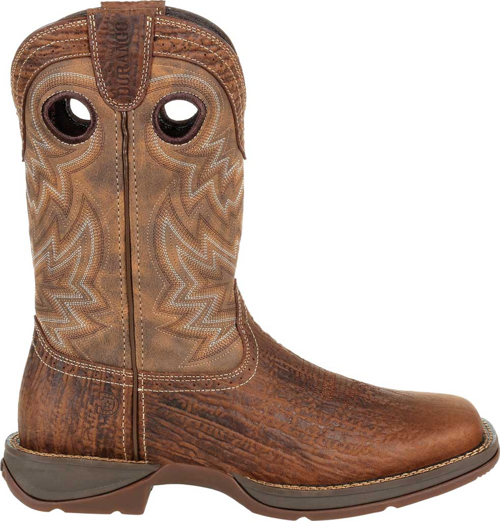 Men's Durango Boot DDB0271 Rebel Western Boot, Trail Brown Full Grain Leather/Faux, large, image 2