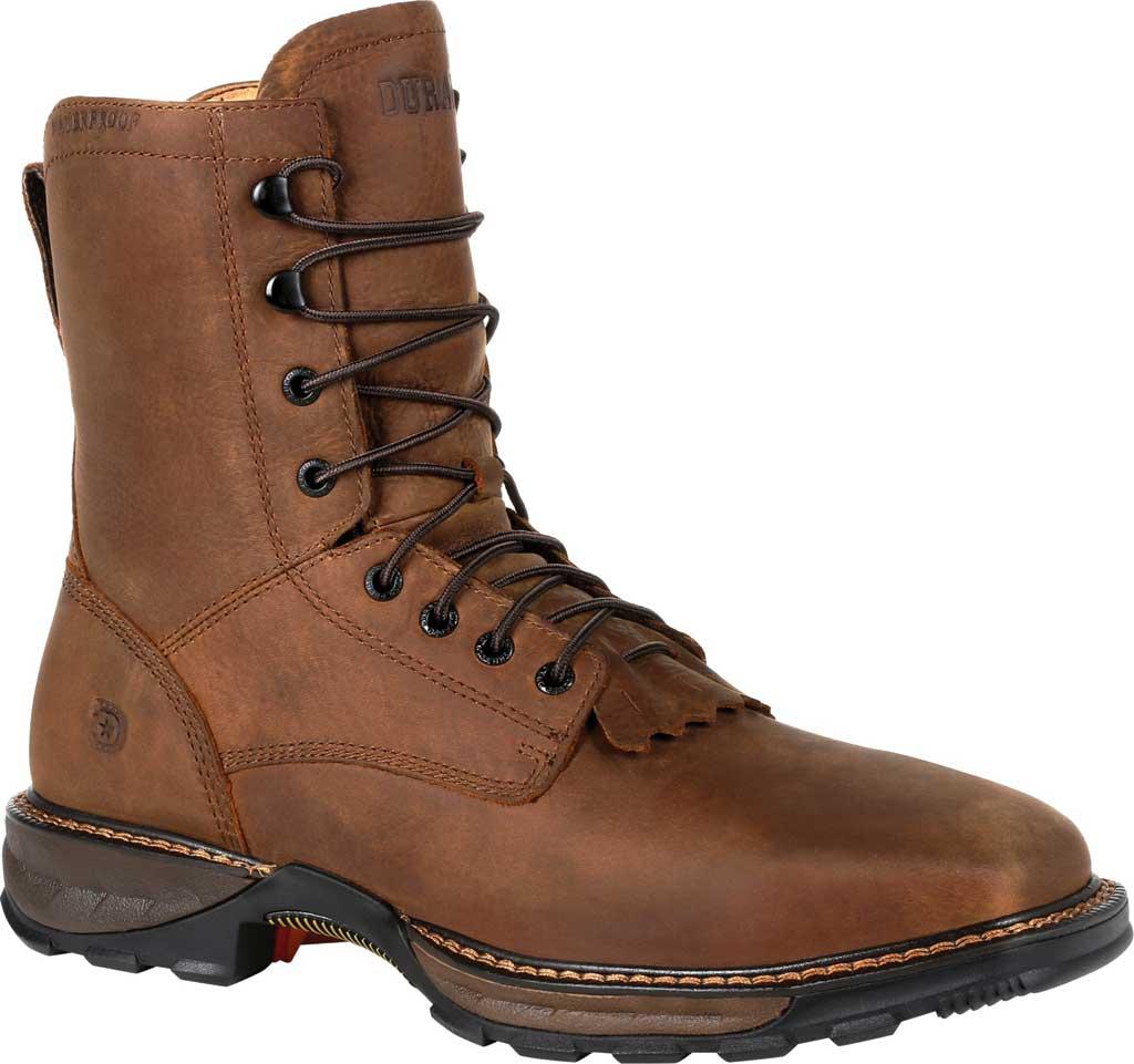 Men's Durango Boot DDB0267 Maverick XP Steel Toe WP Lacer Work Boot, Russet Full Grain Leather, large, image 1