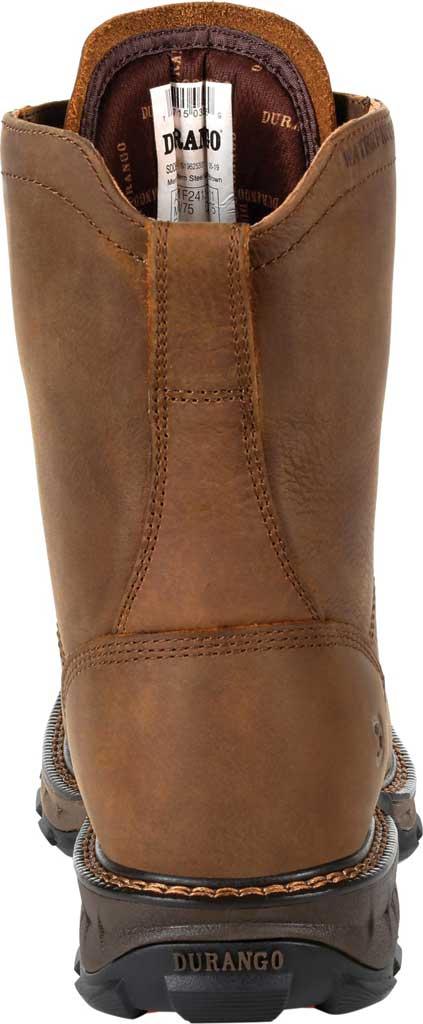 Men's Durango Boot DDB0267 Maverick XP Steel Toe WP Lacer Work Boot, Russet Full Grain Leather, large, image 4