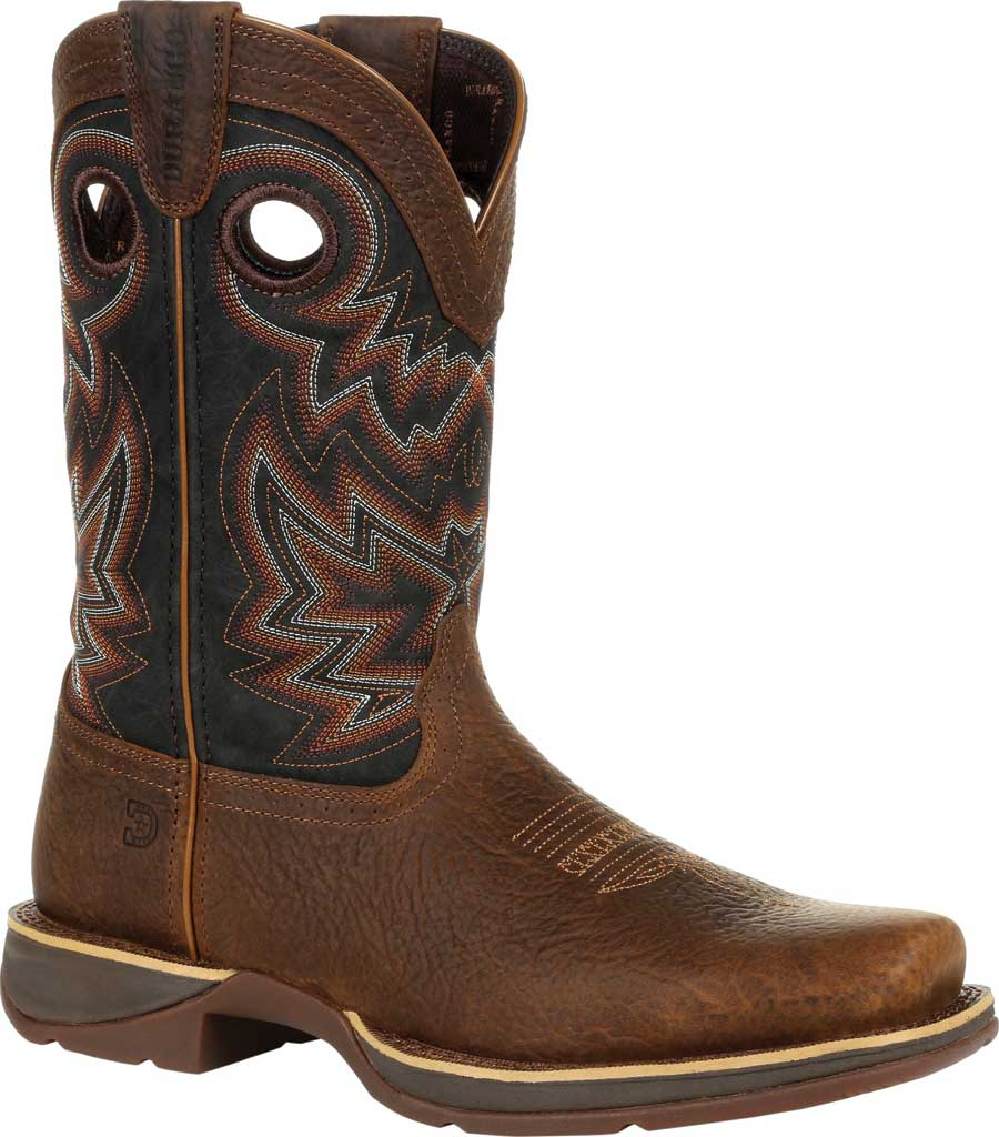 Men's Durango Boot DDB0270 Rebel Western Boot, Chocolate/Black Eclipse Full Grain Leather/Faux, large, image 1