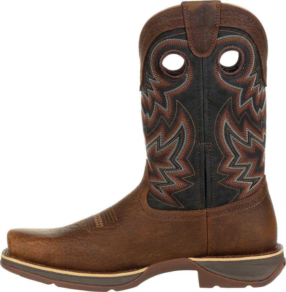 Men's Durango Boot DDB0270 Rebel Western Boot, Chocolate/Black Eclipse Full Grain Leather/Faux, large, image 3