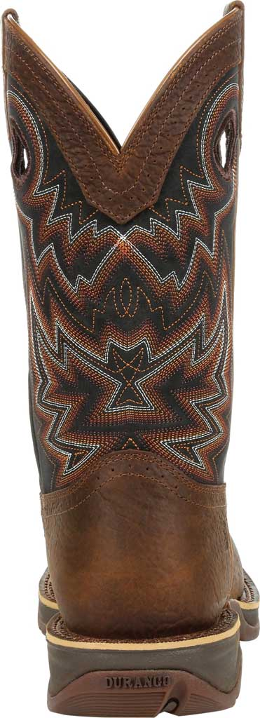 Men's Durango Boot DDB0270 Rebel Western Boot, Chocolate/Black Eclipse Full Grain Leather/Faux, large, image 4