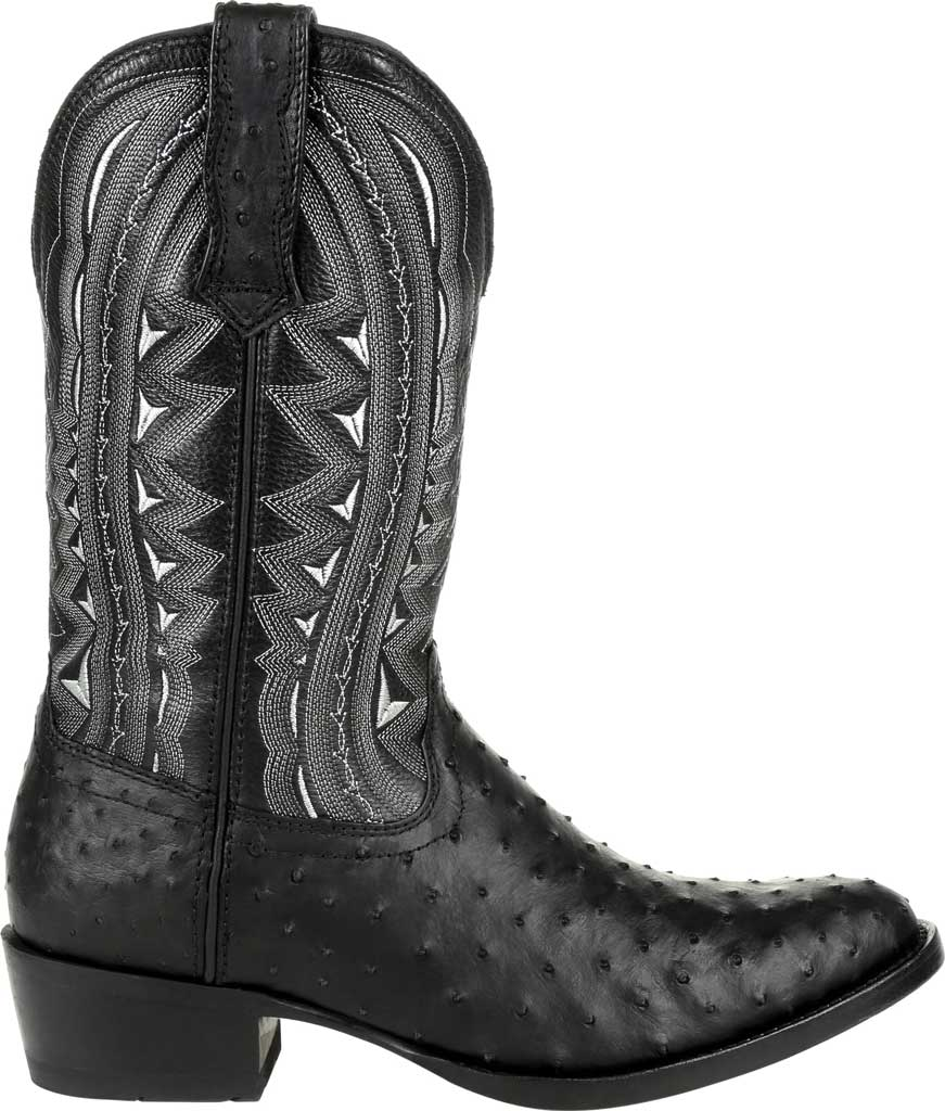 Men's Durango Boot DDB0278 Exotic Full-Quill Ostrich Western Boot, Ebony Ostrich/Full Grain Leather, large, image 2