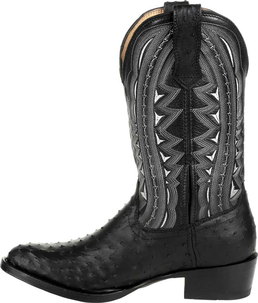 Men's Durango Boot DDB0278 Exotic Full-Quill Ostrich Western Boot, Ebony Ostrich/Full Grain Leather, large, image 3
