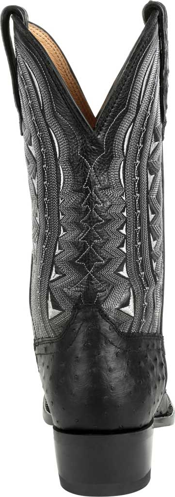 Men's Durango Boot DDB0278 Exotic Full-Quill Ostrich Western Boot, Ebony Ostrich/Full Grain Leather, large, image 4
