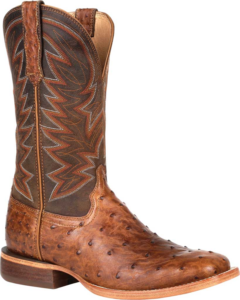 Men's Durango Boot DDB0272 Exotic Full-Quill Ostrich Western Boot, Sunset Wheat Ostrich/Full Grain Leather, large, image 1