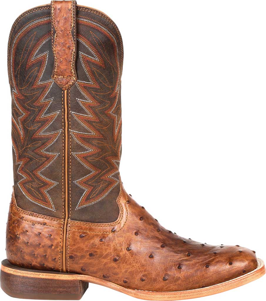 Men's Durango Boot DDB0272 Exotic Full-Quill Ostrich Western Boot, Sunset Wheat Ostrich/Full Grain Leather, large, image 2
