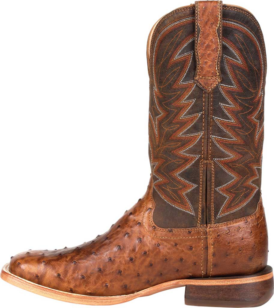 Men's Durango Boot DDB0272 Exotic Full-Quill Ostrich Western Boot, Sunset Wheat Ostrich/Full Grain Leather, large, image 3