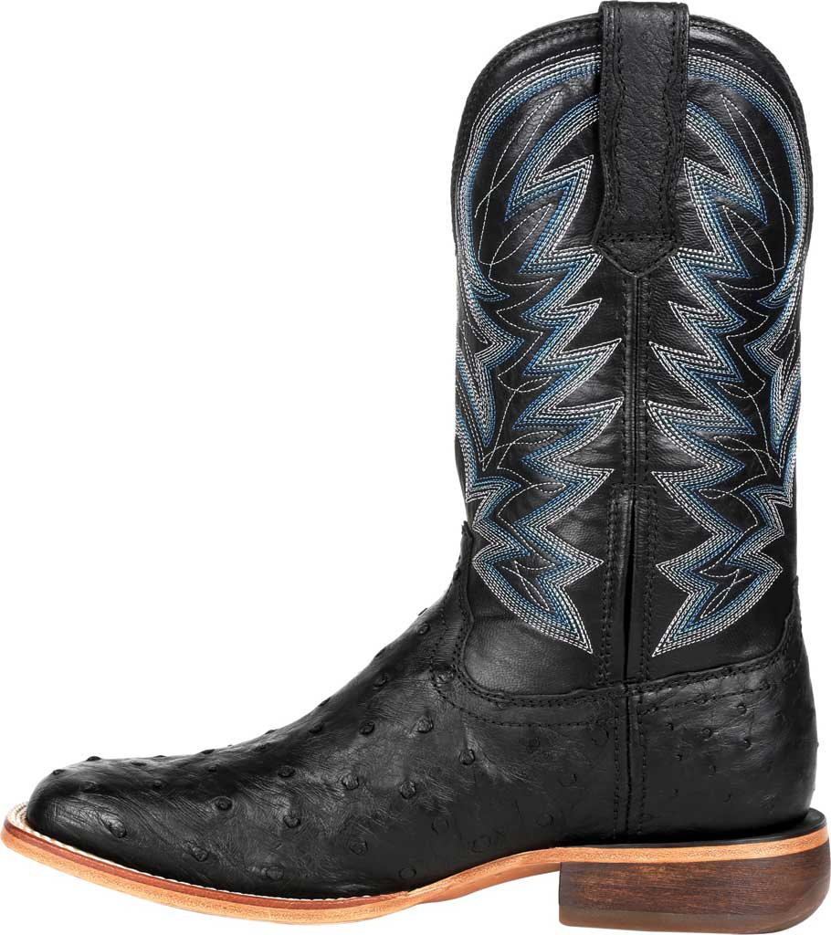 Men's Durango Boot DDB0273 Exotic Full-Quill Ostrich Western Boot, Black Onyx Ostrich/Full Grain Leather, large, image 3