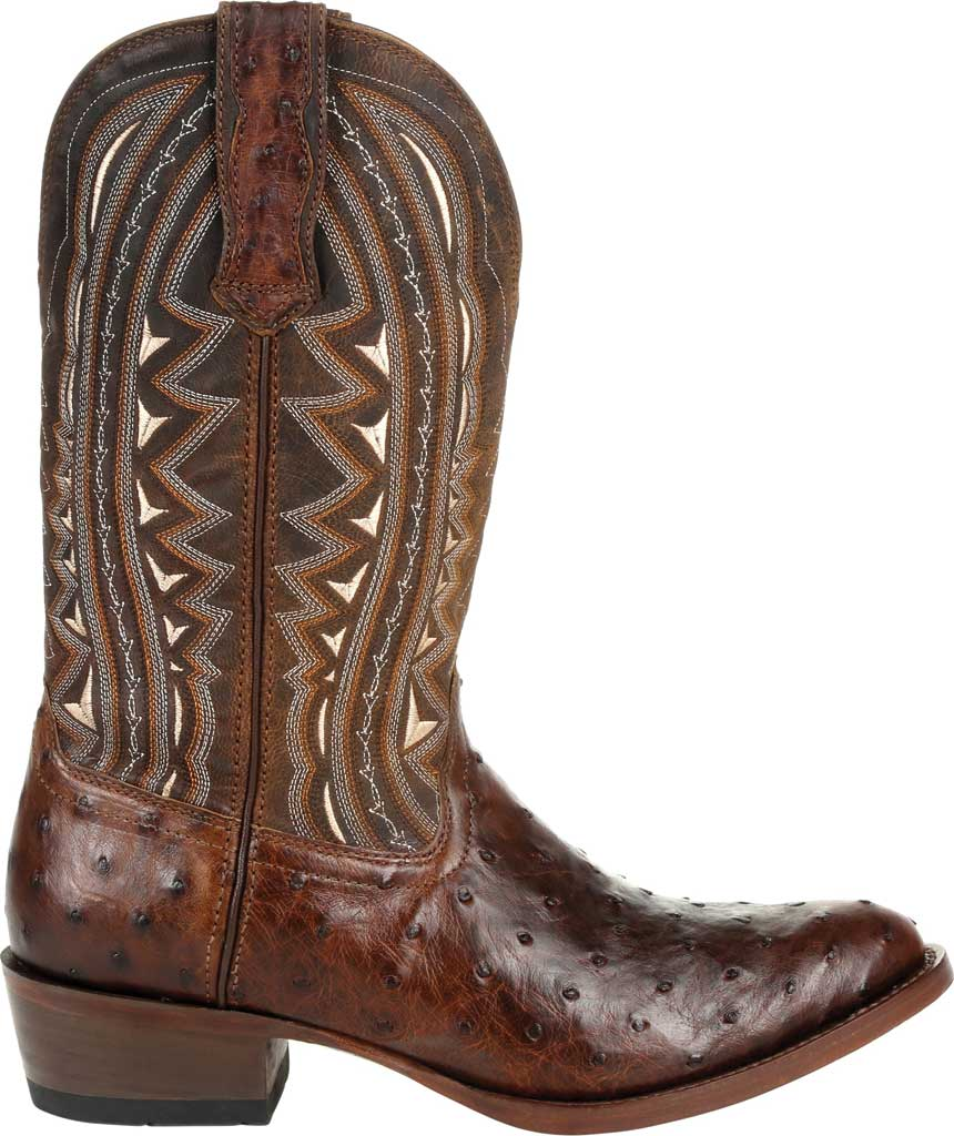 Men's Durango Boot DDB0277 Exotic Full-Quill Ostrich Western Boot, Oiled Saddle Ostrich/Full Grain Leather, large, image 2