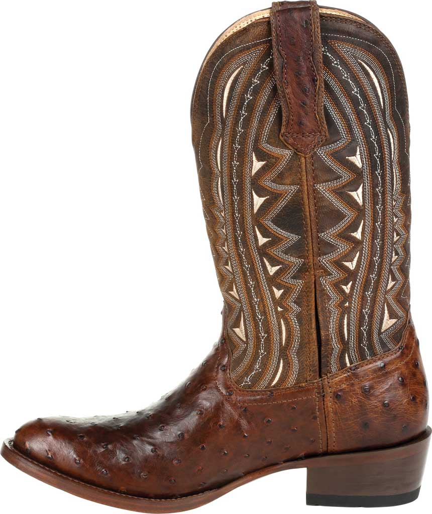 Men's Durango Boot DDB0277 Exotic Full-Quill Ostrich Western Boot, Oiled Saddle Ostrich/Full Grain Leather, large, image 3