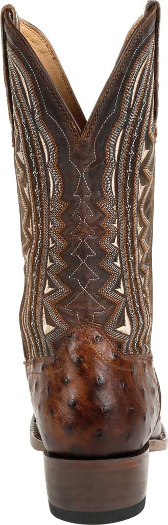Men's Durango Boot DDB0277 Exotic Full-Quill Ostrich Western Boot, Oiled Saddle Ostrich/Full Grain Leather, large, image 4