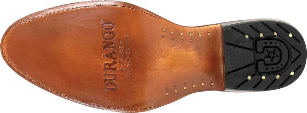 Men's Durango Boot DDB0277 Exotic Full-Quill Ostrich Western Boot, Oiled Saddle Ostrich/Full Grain Leather, large, image 6