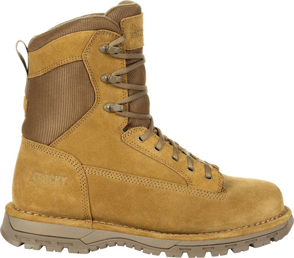 """Men's Rocky Portland 8"""" Coyote Public Service Boot RKD0069, Coyote Brown Full Grain Leather, large, image 2"""