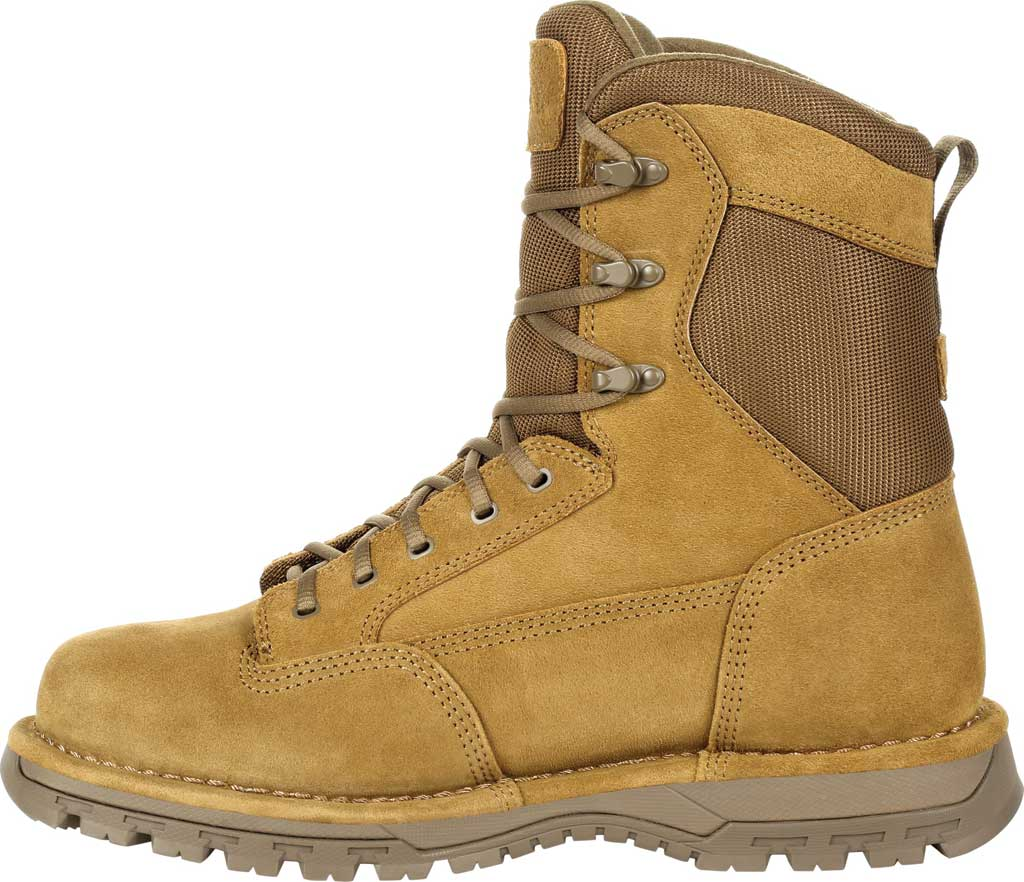 """Men's Rocky Portland 8"""" Coyote Public Service Boot RKD0069, Coyote Brown Full Grain Leather, large, image 3"""