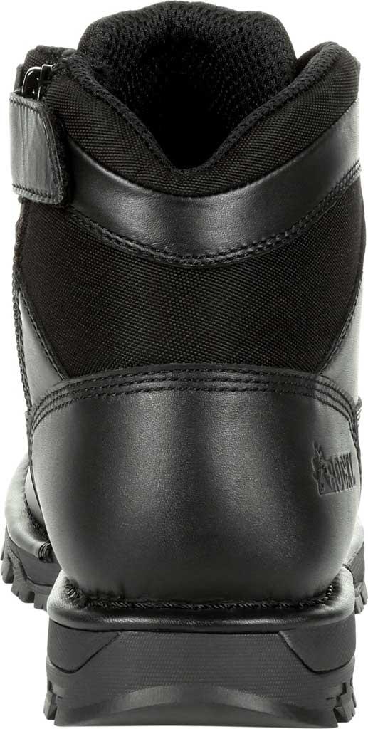 "Men's Rocky Portland 6"" Side Zip WP Service Boot RKD0071, Black Full Grain Leather, large, image 4"