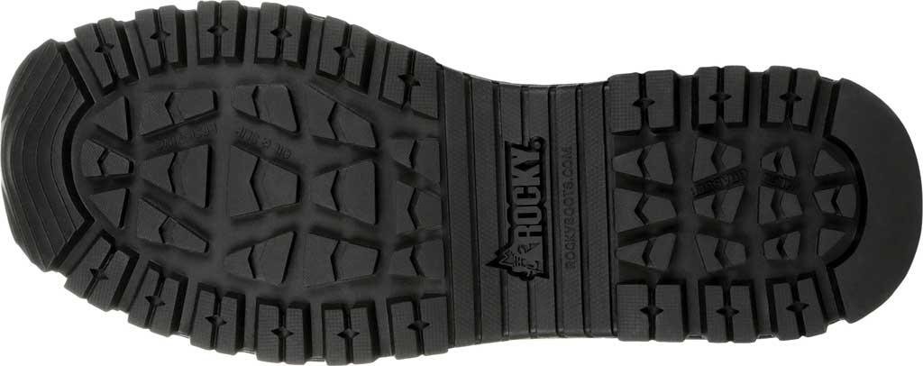 "Men's Rocky Portland 6"" Side Zip WP Service Boot RKD0071, Black Full Grain Leather, large, image 6"