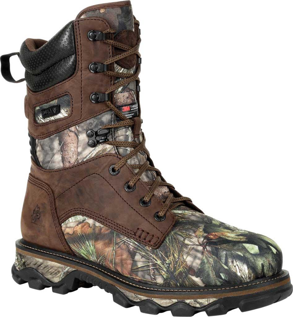 Men's Rocky MTN Stalker WP Insulated Outdoor Boot RKS0475, Brown/Mossy Oak Country Nylon/Full Grain Leather, large, image 1