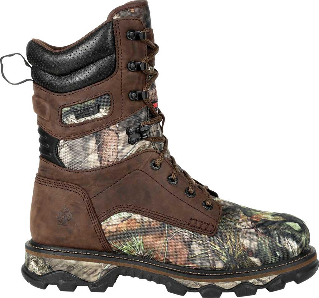 Men's Rocky MTN Stalker WP Insulated Outdoor Boot RKS0475, Brown/Mossy Oak Country Nylon/Full Grain Leather, large, image 2