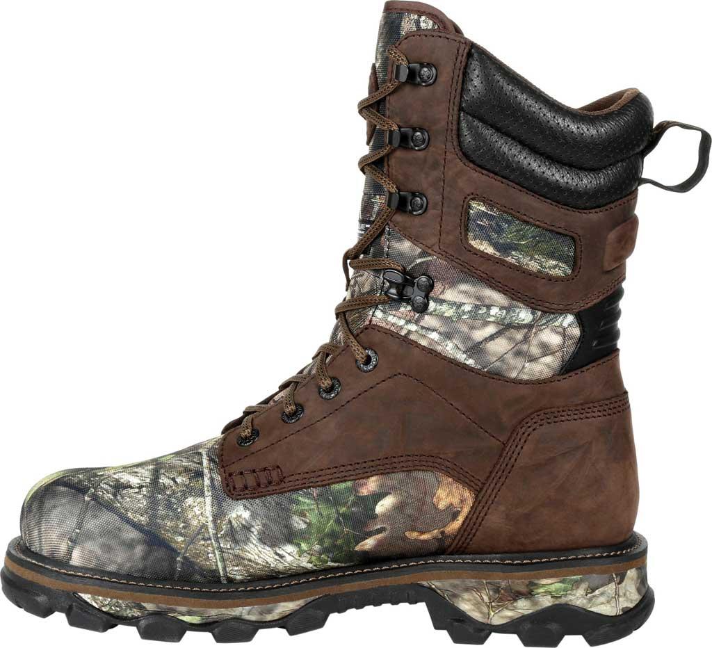 Men's Rocky MTN Stalker WP Insulated Outdoor Boot RKS0475, Brown/Mossy Oak Country Nylon/Full Grain Leather, large, image 3