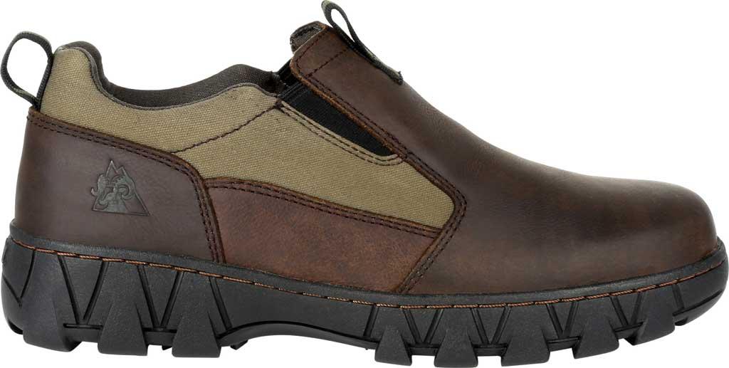 Men's Rocky Oak Creek Slip On Shoe RKS0483, Brown/Green Waxhide Canvas/Full Grain Leather, large, image 2