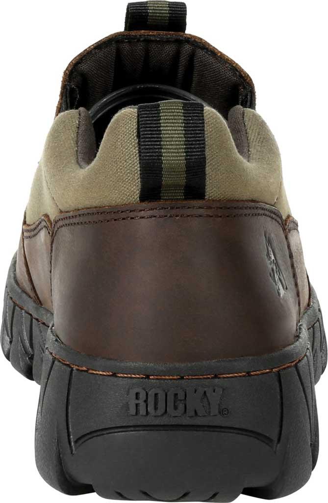 Men's Rocky Oak Creek Slip On Shoe RKS0483, Brown/Green Waxhide Canvas/Full Grain Leather, large, image 4