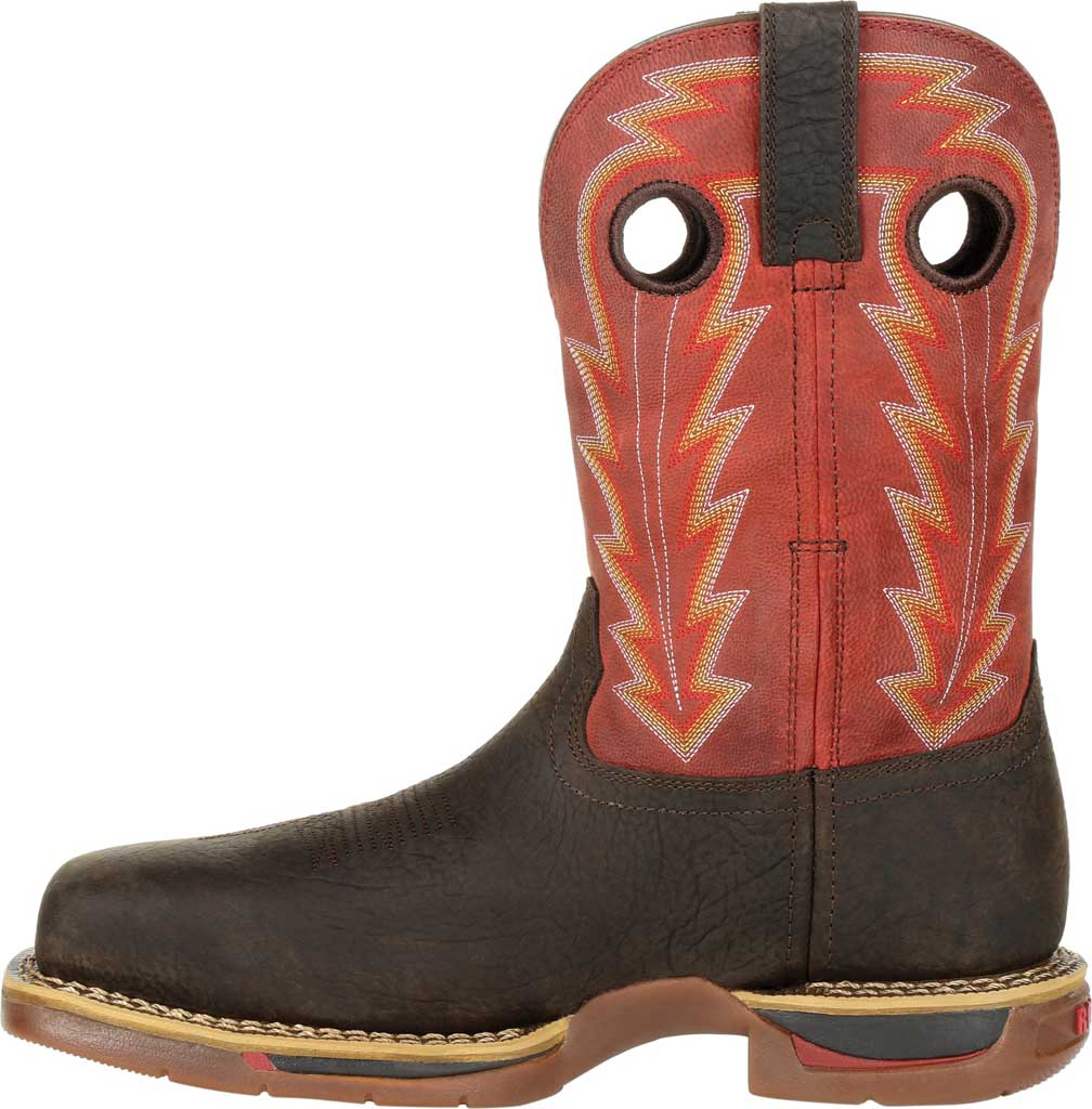 Men's Rocky Long Range CT Waterproof Western Boot RKW0319, Brown/Red Full Grain Leather, large, image 3