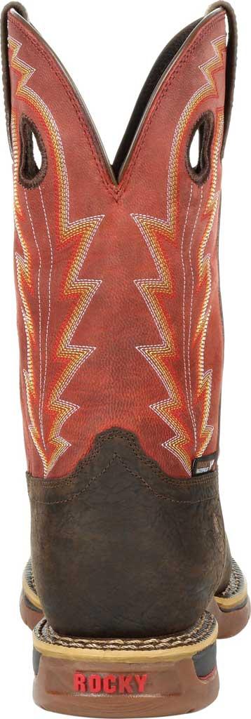 Men's Rocky Long Range CT Waterproof Western Boot RKW0319, Brown/Red Full Grain Leather, large, image 4