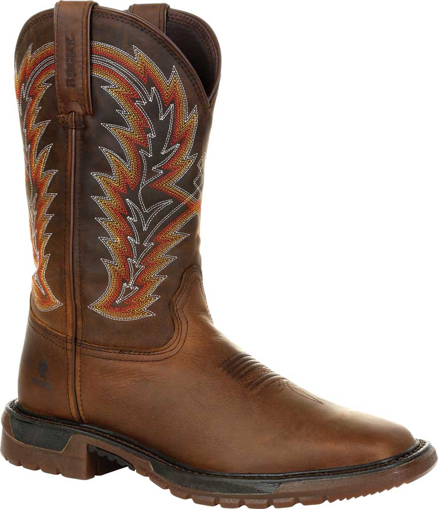 Men's Rocky Original Ride FLX Western Boot RKW0322, Brown/Sunset Wheat Full Grain Leather, large, image 1