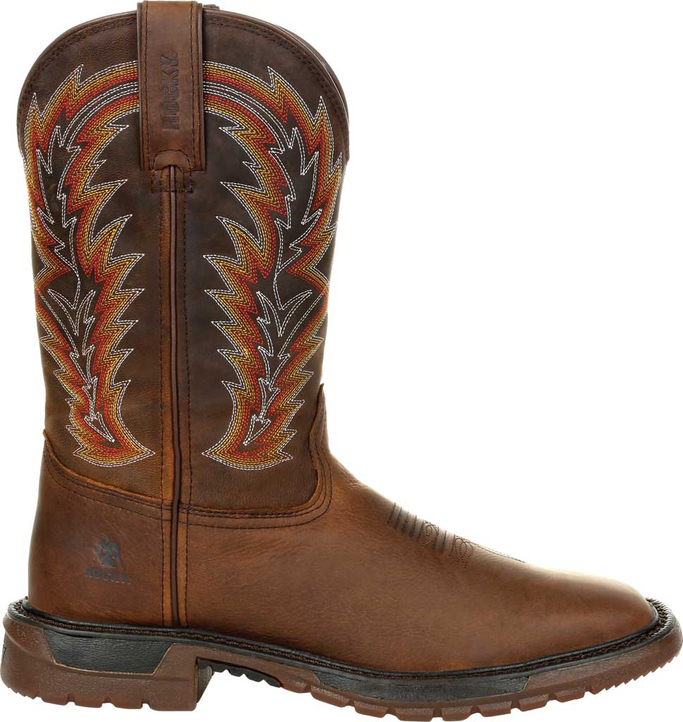 Men's Rocky Original Ride FLX Western Boot RKW0322, Brown/Sunset Wheat Full Grain Leather, large, image 2