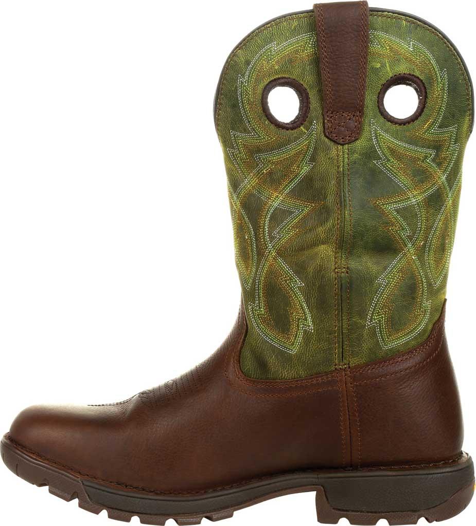 Men's Rocky Legacy 32 Waterproof Western Boot RKW0318, Brown/Green Full Grain Leather, large, image 3