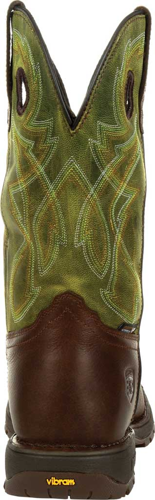 Men's Rocky Legacy 32 Waterproof Western Boot RKW0318, Brown/Green Full Grain Leather, large, image 4