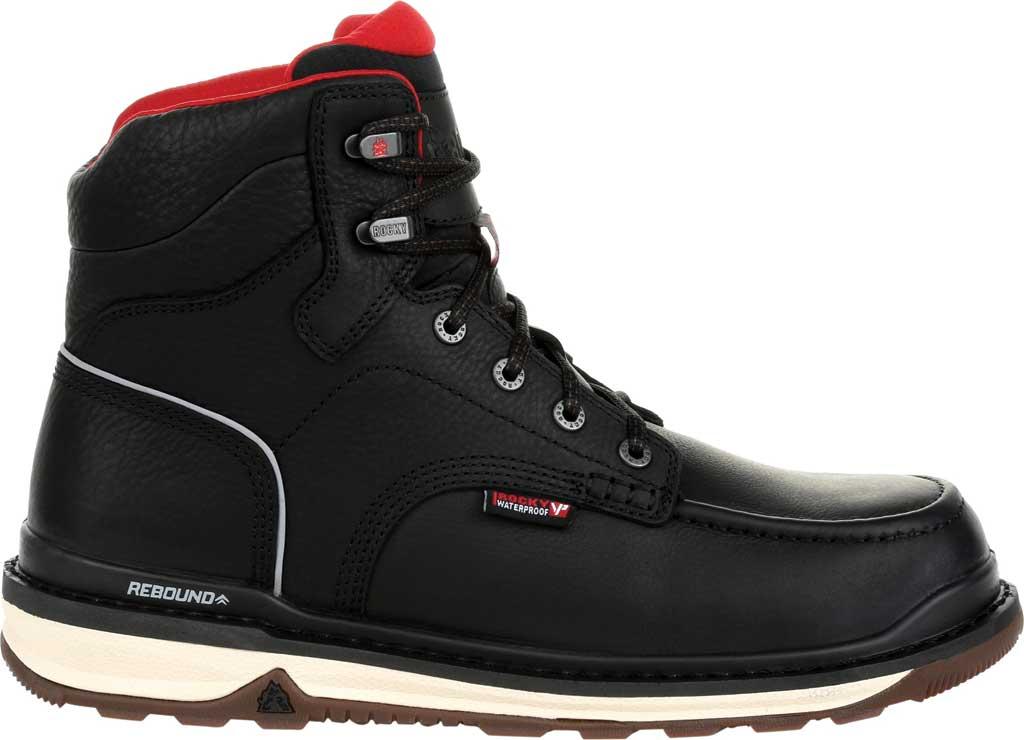 Men's Rocky Rams Horn Waterproof Work Boot RKK0303, Black Full Grain Leather, large, image 2