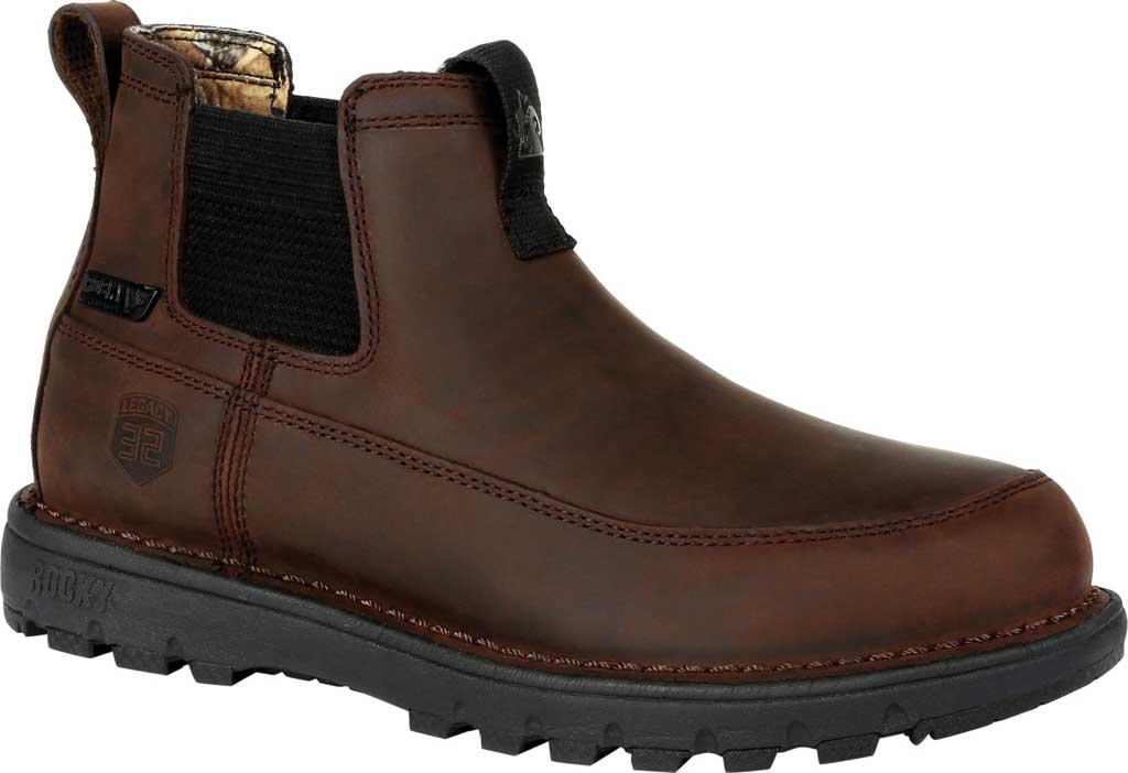 Men's Rocky Legacy 32 Waterproof Outdoor Chelsea Boot RKS0472, Chocolate Brown Full Grain Leather, large, image 1