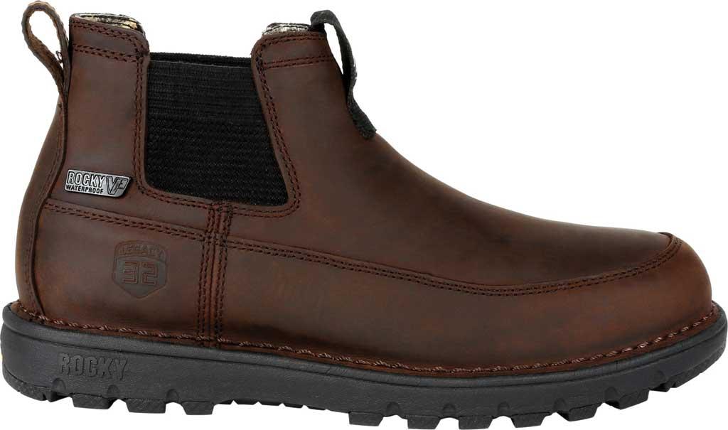 Men's Rocky Legacy 32 Waterproof Outdoor Chelsea Boot RKS0472, Chocolate Brown Full Grain Leather, large, image 2