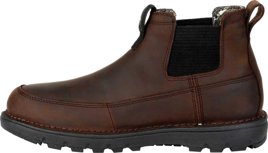 Men's Rocky Legacy 32 Waterproof Outdoor Chelsea Boot RKS0472, Chocolate Brown Full Grain Leather, large, image 3