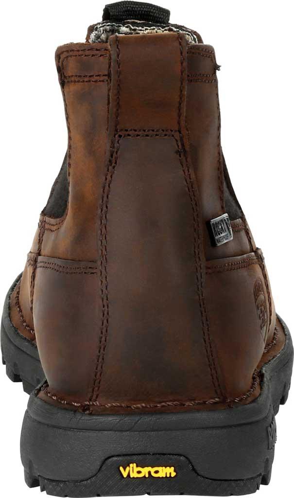 Men's Rocky Legacy 32 Waterproof Outdoor Chelsea Boot RKS0472, Chocolate Brown Full Grain Leather, large, image 4
