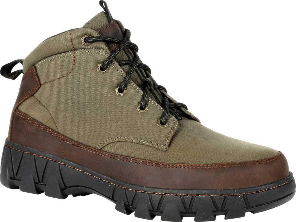 Men's Rocky Oak Creek Chukka Boot RKS0481, Brown Waxhide Canvas/Full Grain Leather, large, image 1