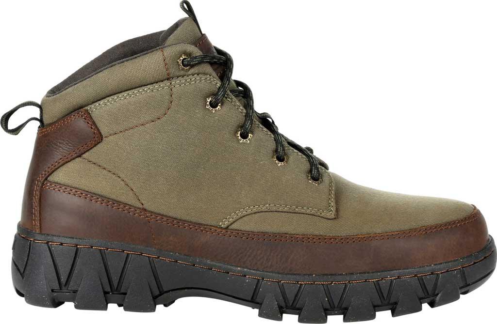 Men's Rocky Oak Creek Chukka Boot RKS0481, Brown Waxhide Canvas/Full Grain Leather, large, image 2