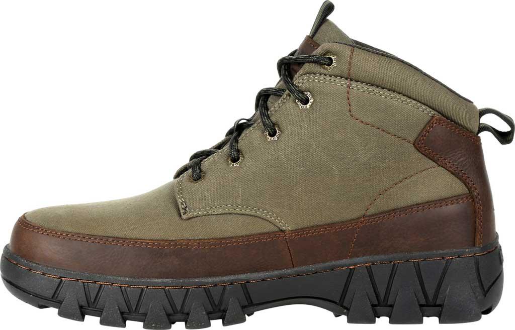 Men's Rocky Oak Creek Chukka Boot RKS0481, Brown Waxhide Canvas/Full Grain Leather, large, image 3