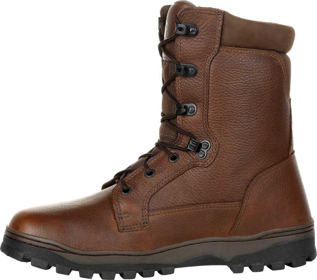 Men's Rocky Outback Plain Toe GTX WP Outdoor Boot RKS0476, Brown Full Grain Leather, large, image 3